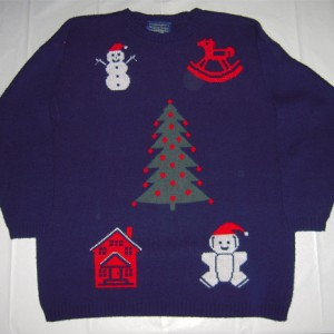 Blue Christmas Icon Sweater