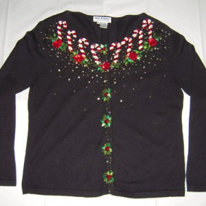 Holiday Candy Cane Christmas Sweater