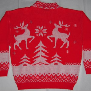 Vintage Reindeer In The Snow Holiday Sweater