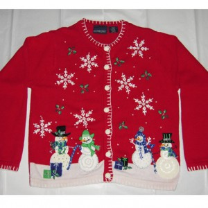 Snowman In The Snow Christmas Sweater