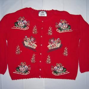 Holiday Christmas Sleigh Sweater