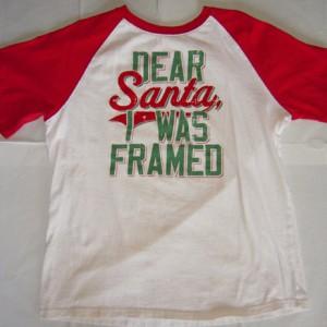 Dear Santa, Framed T-Shirt