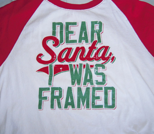 Dear Santa Framed T Shirt Original Navidad Sweaters