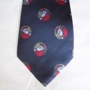 Navy Santa Tie