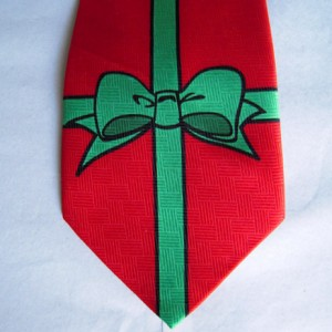 Red Christmas Gift Tie
