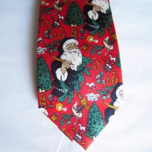 Santa Workshop Red Tie