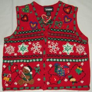 Christmas Vest Hearts