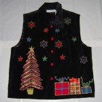 Holiday Christmas Scene Vest