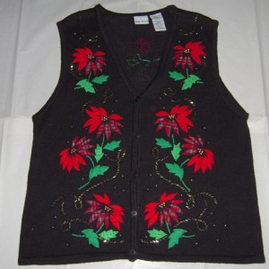 Holiday Poinsettia Vest